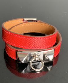 AUTHENTIC HERMES RIVALE ROUGE CASSAQUE EPSOM